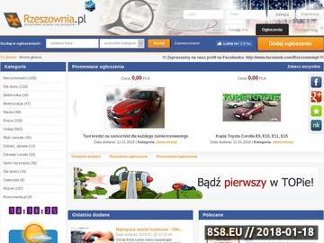Zrzut strony Rzeszownia.pl - Rzeszów - ogłoszenia bezpłatne, anonse i katalog firm