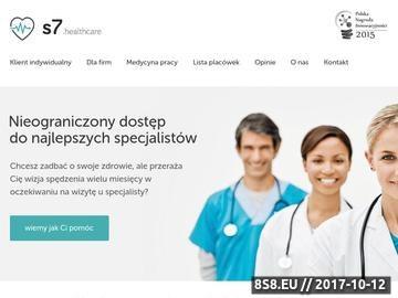 Zrzut strony Abonament medyczny