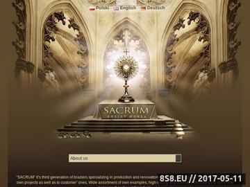 Zrzut strony Sklep z naczyniami liturgicznymi Sacrum