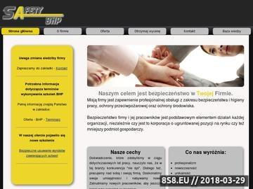 Zrzut strony SAFETY-BHP Piotr Głodny Szkolenia BHP Warszawa, Pruszków, okolice
