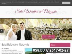 Miniaturka sala.nurzyna.pl (Wesela, komunie, chrzciny i imprezy w super cenie)
