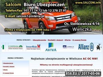 Zrzut strony Ubezpieczenia Wieliczka