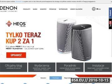 Zrzut strony Sklep internetowy i 9 salonów stacjonarnych w Polsce
