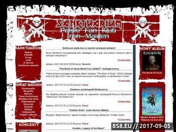 Zrzut strony Polski Fan Klub Iron Maiden - SanktuariuM