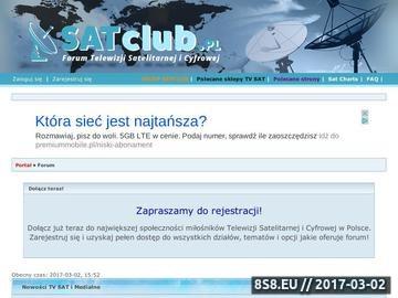 Zrzut strony SatClub Forum o tematyce satelitarnej,porady techniczne