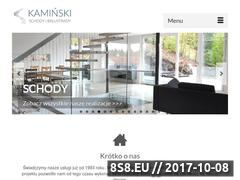 Miniaturka www.schodykaminski.com.pl (Produkcja schodów i balustrad balkonowych)