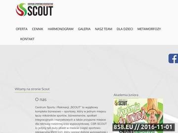 Zrzut strony SCOUT FITNESS&SQUASH CLUB