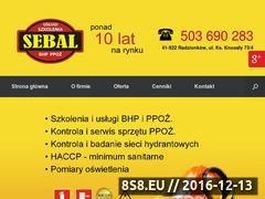 Miniaturka domeny www.sebal-bhp.pl