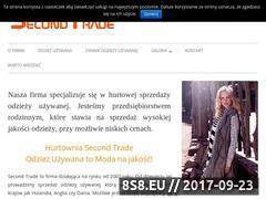 Miniaturka second-trade.pl (Hurtownia odzieży używanej)