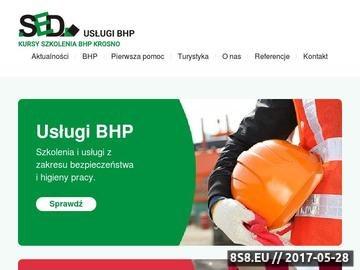 Zrzut strony Kursy i szkolenia pierwszej pomocy Krosno - SED Dariusz Szuba