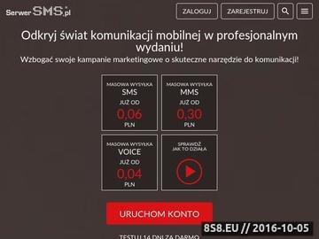Zrzut strony SerwerSMS - wysyłka SMS powiadomienia SMS