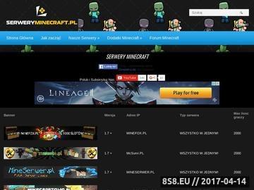 Zrzut strony Serwery Minecraft - lista serwerów Minecraft - serwer Minecraft