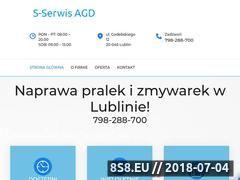Miniaturka www.serwisagdlublin.pl (Naprawa pralek i zmywarek)