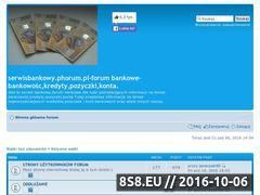 Miniaturka domeny serwisbankowy.phorum.pl