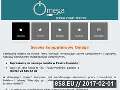 Miniaturka domeny www.serwisomega.pl
