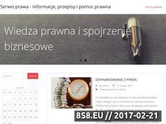 Miniaturka Blog prawniczy (serwisprawa.info)