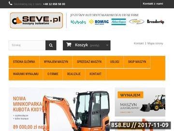 Zrzut strony Wypożyczalnia Sprzętu Budowlanego - Wynajem Koparek SEVE Sp. z o.o.