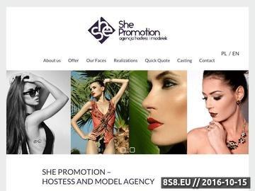 Zrzut strony Agencja Hostess She Promotion