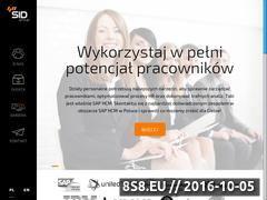 Miniaturka sidgroup.pl (Wdrożenia SAP ERP CRM i inne dla każdej firmy)