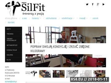 Zrzut strony Trener personalny - osobisty z GRUPY SilFit z Wrocławia gwarancją sukcesu.