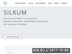 Miniaturka silkum.pl (Środek na łuszczycę - redukuje łuskę)