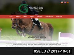 Miniaturka skgozdow.pl (Konie sportowe skokowe - Stadnina koni Gozdów)