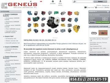 Zrzut strony Sklep Geneus części do silników maszyn budowlanych