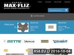 Miniaturka domeny sklep.max-fliz.com.pl