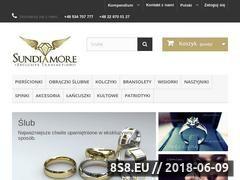 Miniaturka sklep.sundiamore.pl (Obrączki ślubne i klasyczne)