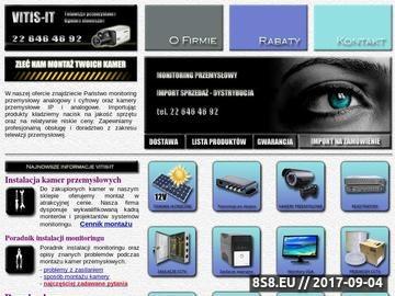 Zrzut strony Sklep kamery przemysłowe - Importer