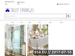Miniaturka sklepfiranki.pl (Dekoracja okna od firanek gotowych do zasłon)