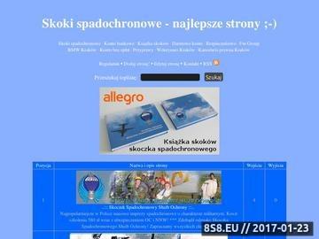 Zrzut strony Skoki spadochronowe - Toplista