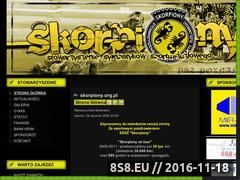 """Miniaturka www.skorpiony.org (Stowarzyszenie Sympatyków Sportu Żużlowego - """"SKORPIONY"""")"""