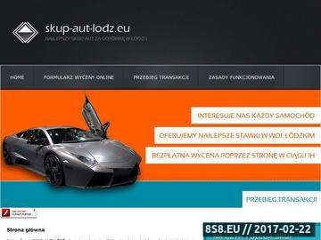 Zrzut strony Skup aut w Łodzi