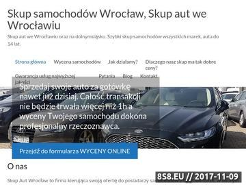 Zrzut strony Skup samochodów za gotówkę Wrocław