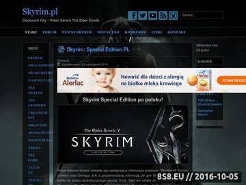 Zrzut strony Serwis o grach The Elder Scrolls