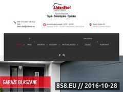 Miniaturka slask.garazeblaszane.net.pl (Garaze blaszane, wiaty oraz hale magazynowe ze stali)