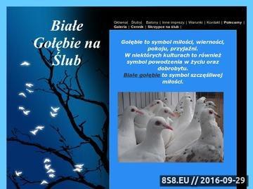 Zrzut strony Białe gołębie na ślub Warszawa