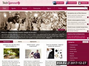 Zrzut strony Portal ślubny