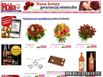 Zrzut strony Ślub, kwiaciarnia wysyłkowa, bukiety