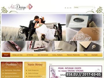 Zrzut strony Zaproszenia - zaproszenia ślubne, zaproszenia na wesele - Art.Design Studio