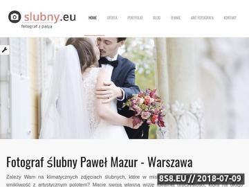 Zrzut strony Fotograf na ślub Warszawa