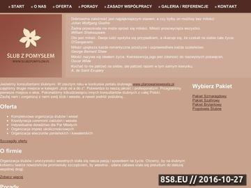 Zrzut strony Organizacja ślubów i wesel warszawa | SlubzPomyslem.pl