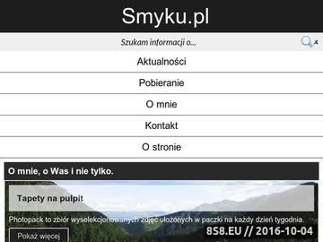 Zrzut strony Karol Smyczyński - strona domowa
