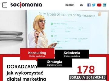 Zrzut strony Socjomania, czyli zespół uzależnienia od komunikacji internetowej