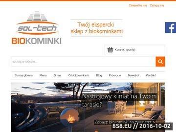 Zrzut strony Kominki na biopaliwo