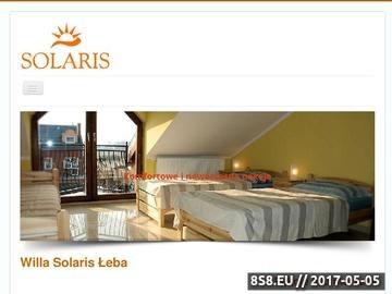 Zrzut strony Willa Solaris Łeba - wczasy w Łebie