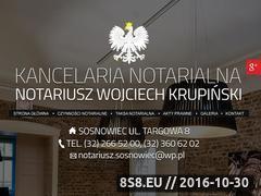 Miniaturka domeny sosnowiecnotariusz.pl