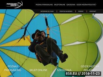 Zrzut strony Polskie centrum parasailingu