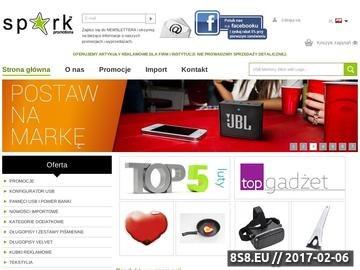 Zrzut strony Długopisy z nadrukiem firma SPARK PROMOTIONS Wrocław